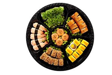 Eindejaar met sushi daily dat is sushi met zalm en foie gras cartoon productions - Gezellig synoniem ...
